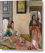Life In The Harem - Cairo Metal Print by John Frederick Lewis