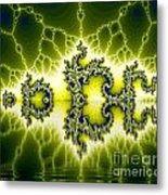 Light Fractal Reflection Metal Print by Odon Czintos