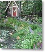 Magic Garden Pond Metal Print