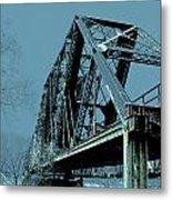 Mississippi River Rr Bridge At Memphis Metal Print