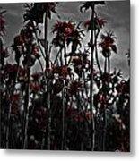 Mono Flowers Metal Print