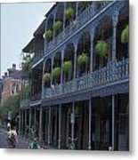 Musicians On Bourbon Street Metal Print