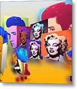Pop Art Pop Up Metal Print