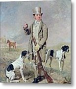 Richard Prince With Damon - The Late Colonel Mellish's Pointer Metal Print