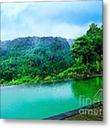 Scenery Of Mount Rinjani Metal Print by Vidka Art