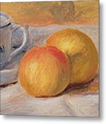 Still Life With Blue Cup Nature Morte A La Tasse Bleue Metal Print