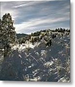 Sunrise On Frosted Hill Metal Print