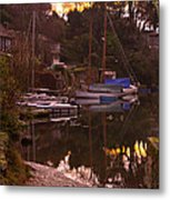 Sunrise Port Navas Metal Print