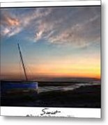 Sunset Down The River Metal Print