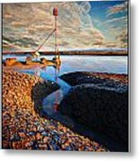 Sunset On The Marker Metal Print