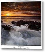 Sunset Tides Metal Print