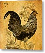 Thanksgiving Rooster Metal Print