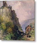 The Castle Of Katz On The Rhine Metal Print