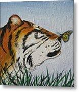 '' Tiger Colors'' Metal Print