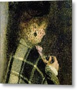 Young Woman With A Small Veil Metal Print