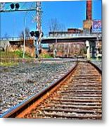 0001 Train Tracks Metal Print