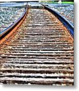 0002 Train Tracks Metal Print