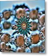 0002 Turquoise And Pearls Metal Print