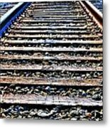 0004 Train Tracks  Metal Print