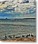 001 On A Summers Day  Erie Basin Marina Summer Series Metal Print