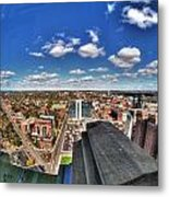 0017 Autumn Days Of Buffalo Ny Birds Eye Metal Print