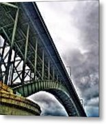 002 Stormy Skies Peace Bridge Series Metal Print