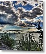 003 Peace Bridge Series II Beautiful Skies Metal Print
