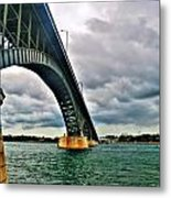 003 Stormy Skies Peace Bridge Series Metal Print