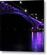 004 Peace Bridge Honoring Breast Cancer 2012 Series Metal Print