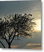 004 When Feeling Down  Pick Your Head Up To The Skies Series Metal Print