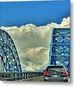 005 Grand Island Bridge Series  Metal Print