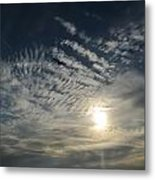 005 When Feeling Down  Pick Your Head Up To The Skies Series Metal Print