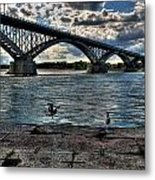 006 Peace Bridge Series II Beautiful Skies Metal Print