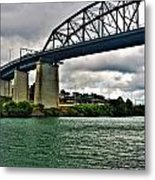 006 Stormy Skies Peace Bridge Series Metal Print