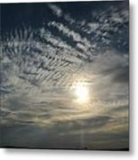 006 When Feeling Down  Pick Your Head Up To The Skies Series Metal Print