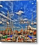 007 On A Summers Day  Erie Basin Marina Summer Series Metal Print
