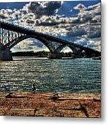 007 Peace Bridge Series II Beautiful Skies Metal Print