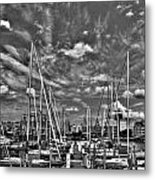 007bw On A Summers Day  Erie Basin Marina Summer Series Metal Print
