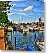 008 On A Summers Day  Erie Basin Marina Summer Series Metal Print
