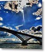 008 Peace Bridge Series II Beautiful Skies Metal Print