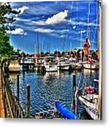 009 On A Summers Day  Erie Basin Marina Summer Series Metal Print