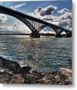 009  Peace Bridge Series II Beautiful Skies Metal Print