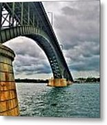 009 Stormy Skies Peace Bridge Series Metal Print