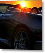 01 Ferrari Sunset Metal Print