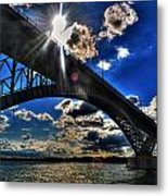 010  Peace Bridge Series II Beautiful Skies Metal Print