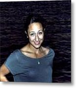 012 A Sunset With Eyes That Smile Soothing Sounds Of Waves For Miles Portrait Series Metal Print