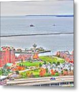 013 Series Of Buffalo Ny Via Birds Eye Erie Basin Marina Metal Print