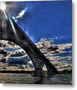 016 Peace Bridge Series II Beautiful Skies Metal Print