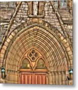 02 Church Doors Metal Print
