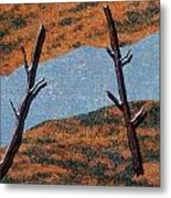 0361 Abstract Landscape Metal Print